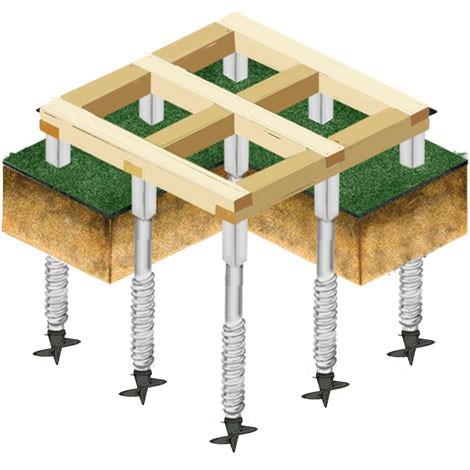 Монтаж свайно-винтового фундамента от «СтройФунд» под ключ